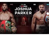 2x Anthony Joshua vs Joseph Parker tickets, FLOOR SEATS C10