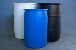 55 Gallon plastic barrels London Ontario image 4