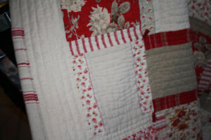 antique quilt and pillow shama