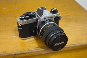 Nikon FM2 with Nikon 55mm f/2.8 micro Nikkor Lens