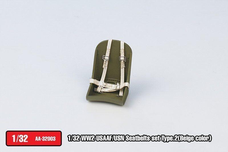 Tetra Model AA32003 1/32 WWII USAAF/USN Seatbelts Set Type.2 (Beige Color)
