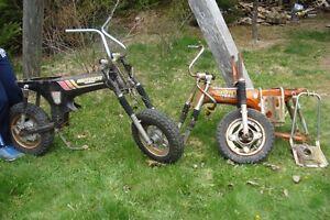 Assortment of Honda CT 70 parts