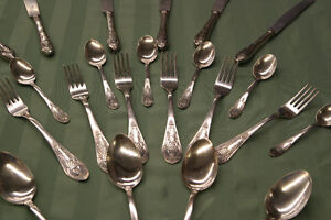 Vintage Mid-Century Russian Silver Flatware for 6