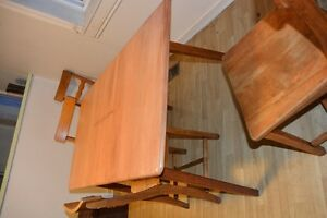 Antique maple table and chairs