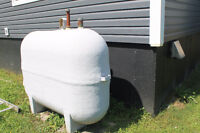 Oil furnace, Oil tank and duct work