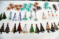 FUSED GLASS HOLIDAY/CHRISTMAS ORNAMENTS