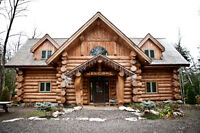 Beautiful Log Home with Ultimate Privacy- Fortescue Lake