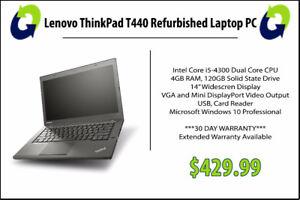Lenovo ThinkPad T440 Refurbished - 360 Computers
