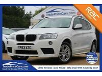 2013 63 BMW X3 2.0 XDRIVE20D M SPORT 5D AUTO 181 BHP DIESEL