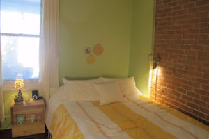 Nice furnished room, July-August, central location, Berri metro!