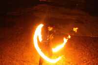 Professional fire dancer/performer for hire!