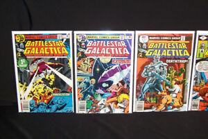 1979 Marvel Battlestar Galactica #1-3,7-10+ Comic Lot High Grade