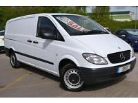 2010 Mercedes benz Vito 111 CDI LONG WHEEL BASE 6 door Panel Van
