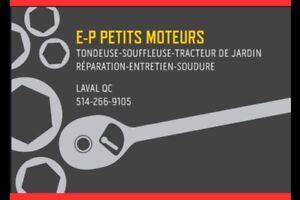 E-P PETITS MOTEURS LAVAL RÉPARATION-ENTRETIEN-SOUDURE ETC...