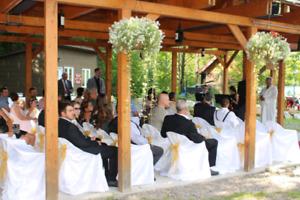 Decoration pour mariage rustique