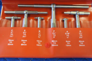STARRETT Telescoping Gage 6 pc. Set S579HZ Made in USA!