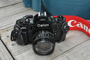 Canon A-1 Camera with Lenses and Accessories