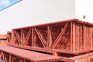 Pallet racking USED  16 or 18 ft tall 36 or 42deep 8ft cross arm