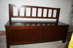 Deacon's Bench with matching Cubbies