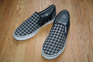 Size 9 Checkerboard Slip-On Mens Shoes Nascar Brand