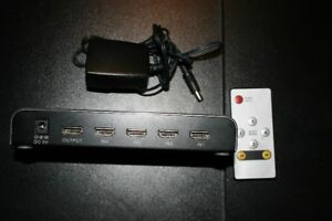 Commutateur HDMI 4 in 1 out avec télécommande