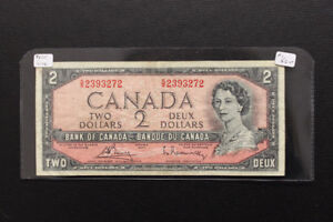 Canada 1954 $2 Bank Note Test Note
