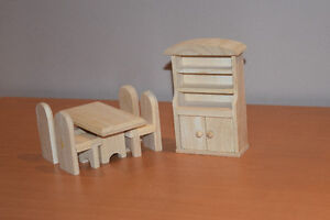 Wooden Doll house set - all inclusive West Island Greater Montréal image 6