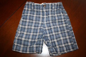 Baby GAP Blue Plaid Shorts- 2T