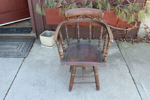 Antique Swivel Captain's Chair London Ontario image 1