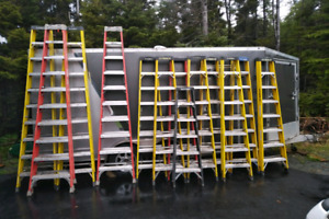 Industrial Class 1 fibreglass ladders for sale (reduced)