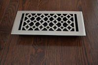 DECORATIVE BLACK FLOOR REGISTER IN CAST IRON , ALUMINUM