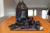 Canon T3i with Multiple lenses and filters