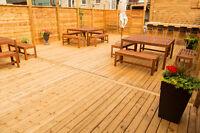 Rooftop Terrace to Rent / Terrasse sur un toit à louer