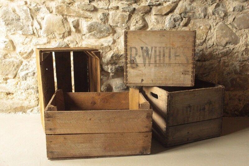 Wooden genuine Apple crates