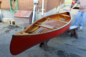 Peterborough cedar strip canoe