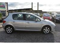 Peugeot 307 1.6HDi ( 110bhp ) 2005MY S 5 DOOR+SILVER+STUNNING