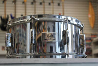 """Pearl SS (Steel Shell) Made in Taiwan 6.5"""" x 14"""" Snare Drum Winnipeg Manitoba Preview"""