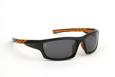 Fox Brillen Schwarz Orange - Grau Linsen / Fischen Polarisiert Sonnenbrille
