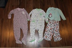 Girls 24 month sleepers and pajamas