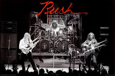 Rush Poster Print 36x24 Rock & Pop Music