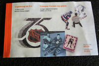 STAMP BOOKLET THE NHL 1992