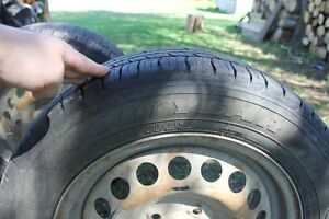5 goodyear assurance tires with steel rims
