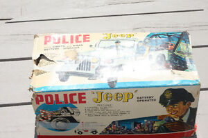 VINTAGE TOY POLICE JEEP Strathcona County Edmonton Area image 2