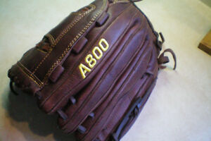 WILSON A800 SOFTFIT ADULT GENUINE BASEBALL/SOFTBALL GLOVE