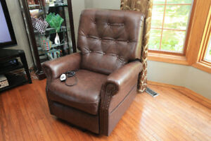 EZee Life Neptune Brown Top Grain Leather Lift Chair