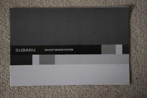 Subaru Forester backup sensor system owner guide