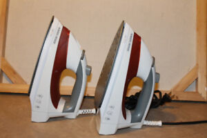 Black & Decker Irons ($10 for both). Practically New