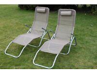 New Garden Sunloungers Recliner Garden Chairs