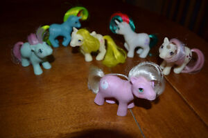 vintage 6 bebes pouliches g1 my little pony