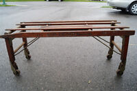 Antique stand for laundry in the bathroom. Tub Bench Pat.1923
